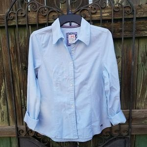Tommy girl blue blouse long sleeves size large